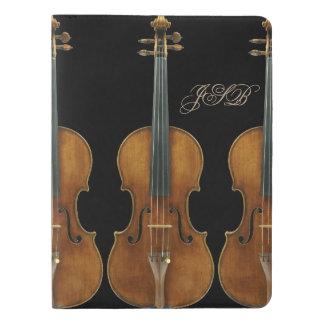 Stradivari Violin Quintet Customizable Monogram Extra Large Moleskine Notebook Cover With Notebook