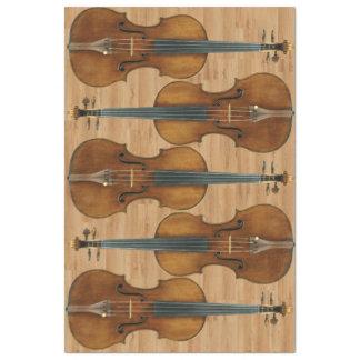 "Stradivari Violin Quintet on Wood Panel Effect 20"" X 30"" Tissue Paper"