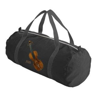 Stradivari Violin with Custom Monogram Gym Duffel Bag