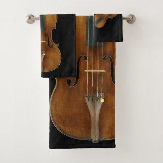 Stradivarius Violin Quintet Bath Towel Set
