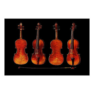 stradivarius violins and bow poster FROM 8.99