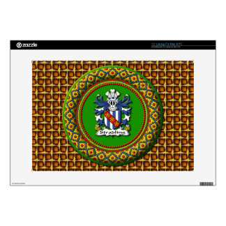 "Stradling Crest - 15"" Laptop For Mac & PC Decals For Laptops"