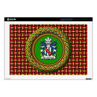 "Stradling Crest - 17"" Laptop For Mac & PC Laptop Decals"