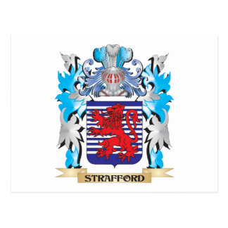 Strafford Coat of Arms - Family Crest Postcard