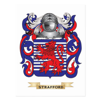Strafford Coat of Arms (Family Crest) Postcard