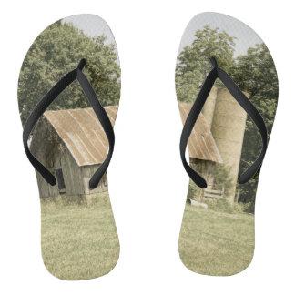 Strafford Mo Barn Antique Flip Flops