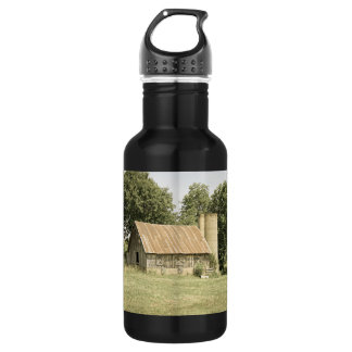 Strafford Mo Barn Antique Stainless Steel Water Bottle