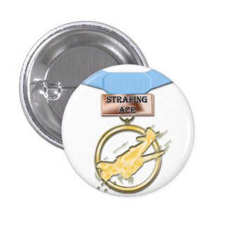 Strafing Ace medal button