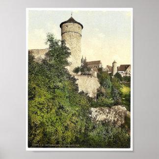 Straft Tower, Rothenburg (i.e. ob der Tauber), Bav Print
