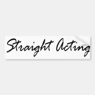 Straight Acting Butch Queen Fem Gay Str8 Masc Bear Bumper Sticker
