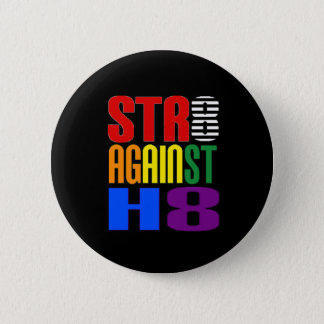 Straight Against Hate LGBT Ally Round Button