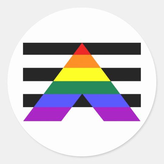 Straight Allies Classic Round Sticker