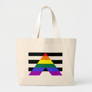 Straight Allies Large Tote Bag