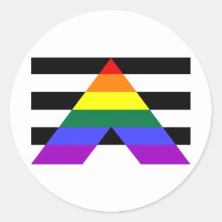 Straight Allies Round Sticker