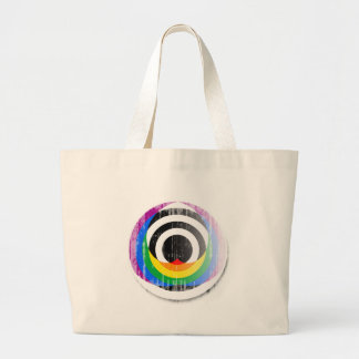 Straight Ally Button distressed.png Canvas Bags