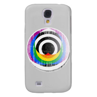 Straight Ally Button distressed png Galaxy S4 Covers