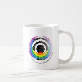 Straight Ally Button distressed.png Classic White Coffee Mug