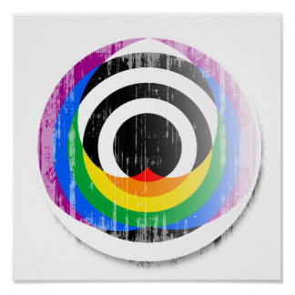 Straight Ally Button distressed.png Posters