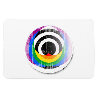 Straight Ally Button distressed.png Rectangle Magnet