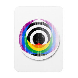 Straight Ally Button distressed.png Rectangular Photo Magnet