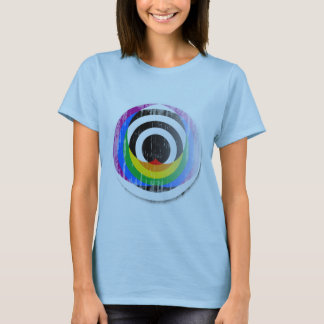 Straight Ally Button distressed.png T-Shirt