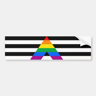 STRAIGHT ALLY FLAG BAR BUMPER STICKER