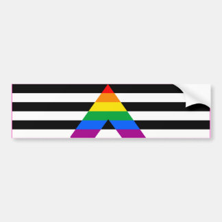 STRAIGHT ALLY FLAG BAR -.png Bumper Sticker