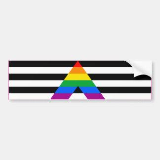 STRAIGHT ALLY FLAG BAR -.png Car Bumper Sticker