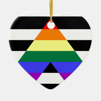 Straight Ally flag Ceramic Ornament