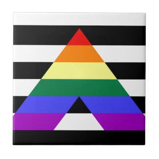 Straight Ally flag Ceramic Tile