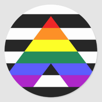 Straight Ally flag Classic Round Sticker