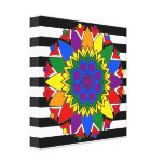 Straight Ally Flag Colors LGBT Supporter Mandala Canvas Print