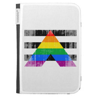 Straight Ally Flag distressed Cases For The Kindle