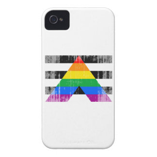 Straight Ally Flag distressed.png iPhone 4 Cases