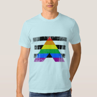 Straight Ally Flag distressed.png Shirts