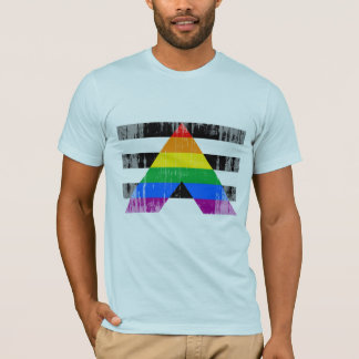 Straight Ally Flag distressed.png T-Shirt