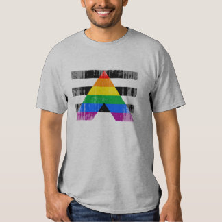 Straight Ally Flag distressed.png Tshirt