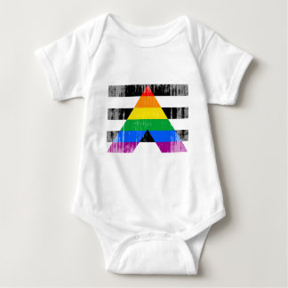 Straight Ally Flag distressed Shirt