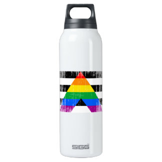 Straight Ally Flag distressed SIGG Thermo 0.5L Insulated Bottle