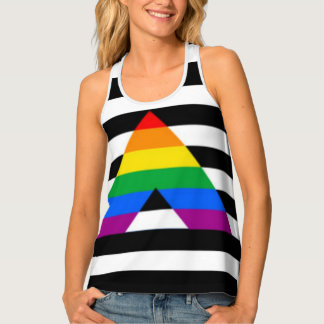 Straight Ally Flag LGBT Gay Supporter Racerback Tank Top
