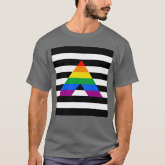 Straight Ally Flag LGBT Gay Supporter T-Shirt
