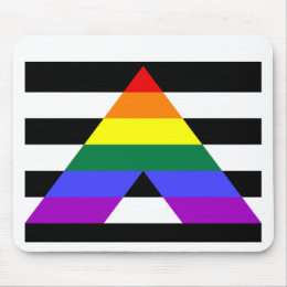 Straight Ally flag Mouse Pad