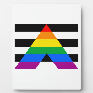 Straight Ally Flag Display Plaque