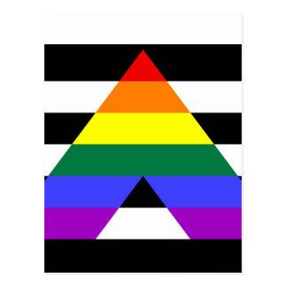 Straight Ally flag Postcard