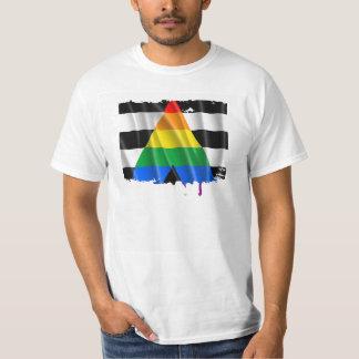 STRAIGHT ALLY FLAG WAVY DESIGN T-Shirt