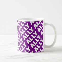 Straight Ally LGBTAPQ Allies Purple Spirit Day Coffee Mug