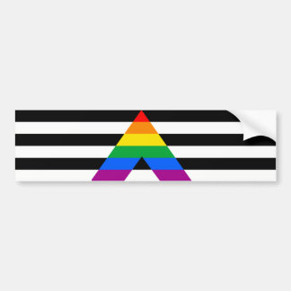 STRAIGHT ALLY - .png Car Bumper Sticker