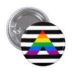 Straight Ally Pride 1 Inch Round Button