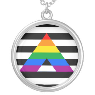 STRAIGHT ALLY PRIDE 2014 PRIDE SILVER PLATED NECKLACE