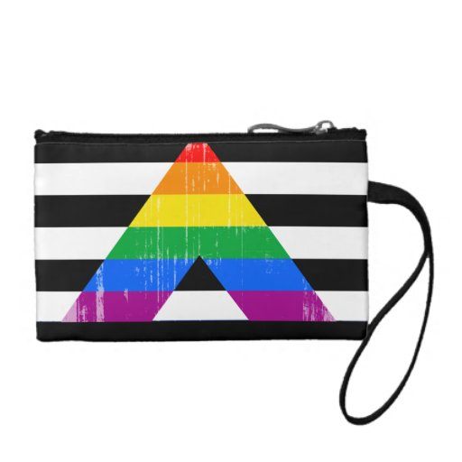 Straight Ally Pride distressed Coin Wallet
